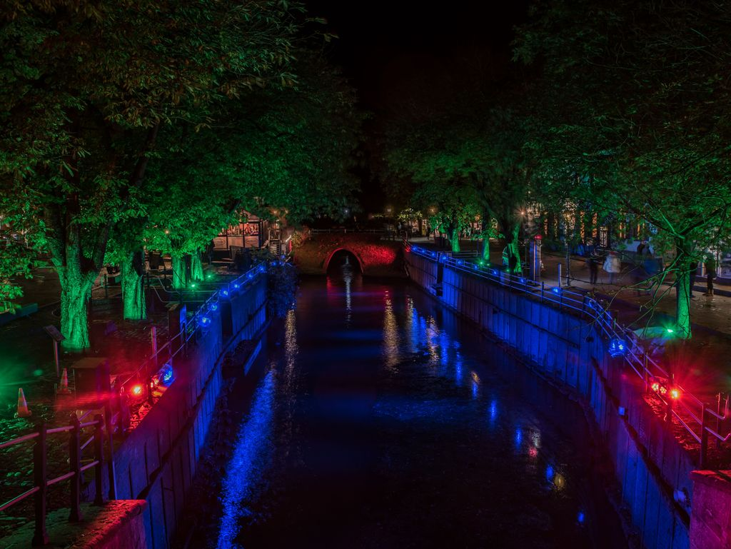 Bild Hafen Greetsiel Lichter