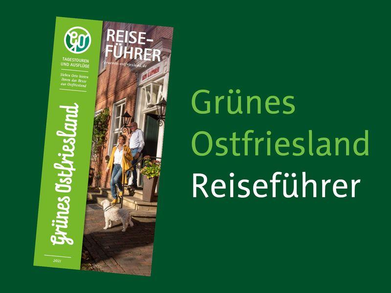 Titelbild Flyer und Prospekt Reiseführer Grünes Ostfriesland 2021