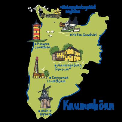 Bild Region und Landschaft Greetsiel Karte Krummhörn