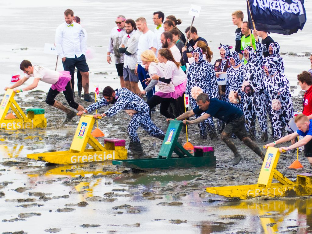 Bild Wältmeisterschaft Schlickschlittenrennen