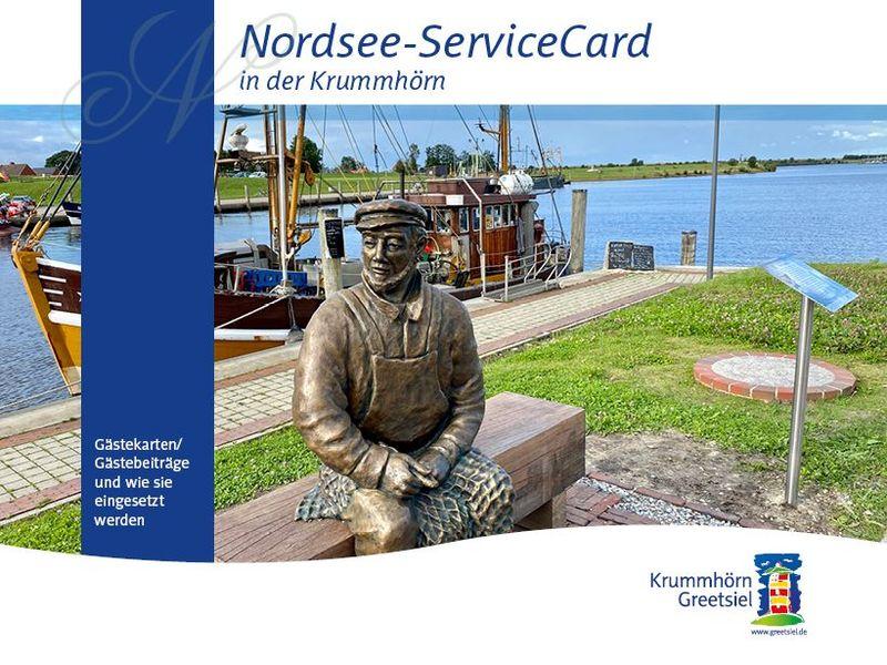 Titelbild Flyer und Prospekt Nordsee-Service Card Krummhörn-Greetsiel