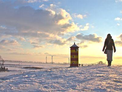 Bild Pilsumer Leuchtturm Winter