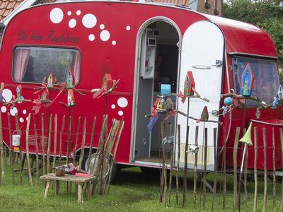 Bild Bauernmarkt Rysum Wohnwagen