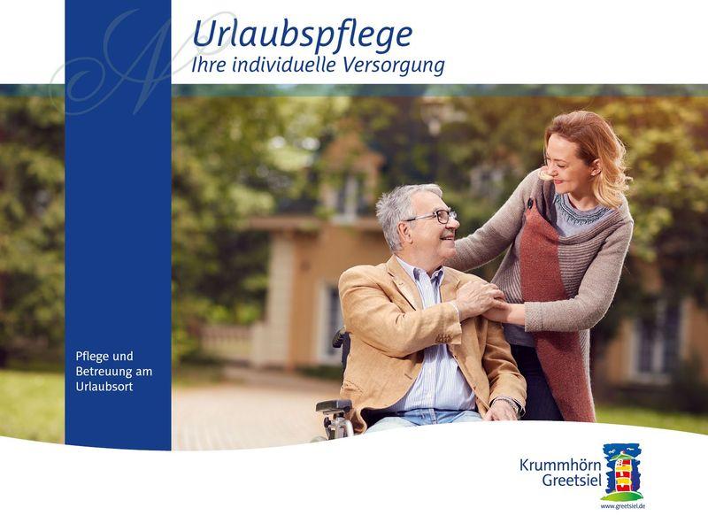 Titelbild Flyer und Prospekt Urlaubspflege in Krummhörn-Greetsiel
