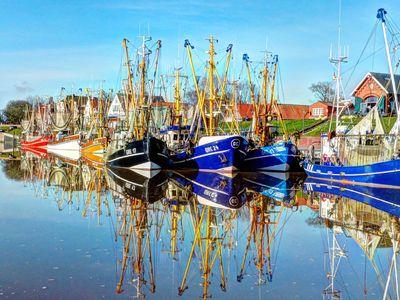 Bild Hafen Greetsiel Wasser