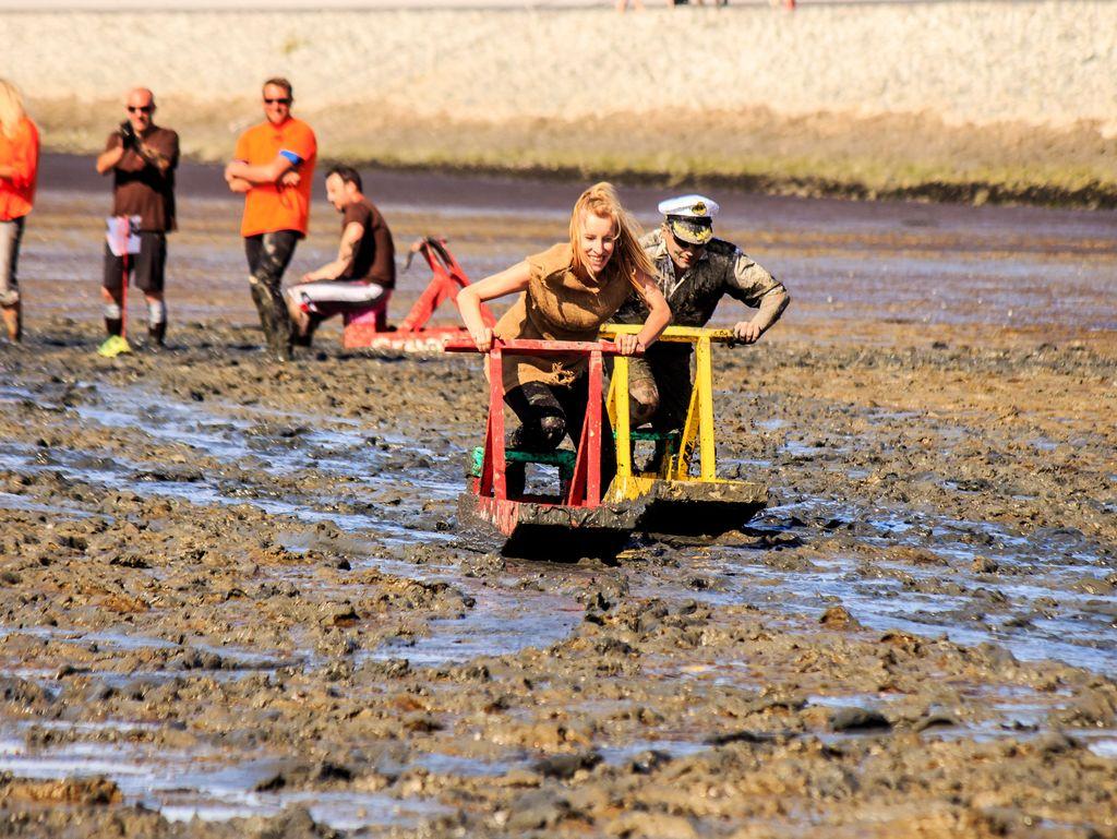 Bild Schnellster Schlickschlittenfahrer Schlickschlittenrennen Wältmeisterschaft