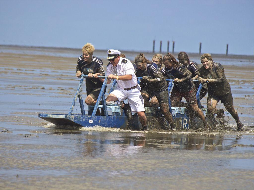 Bild Watt'n Vierer Schlickschlittenrennen Wältmeisterschaft