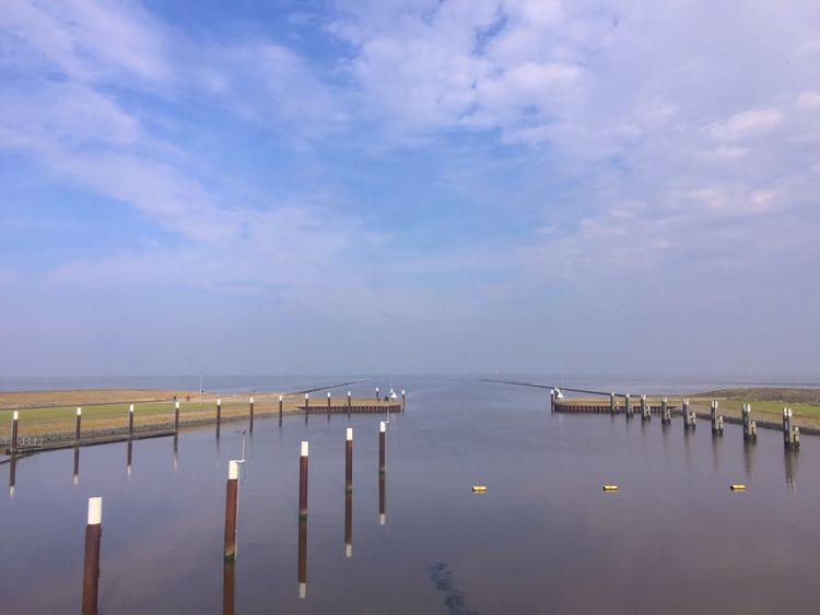 Bild Schleuse Leysiel Yachthafen