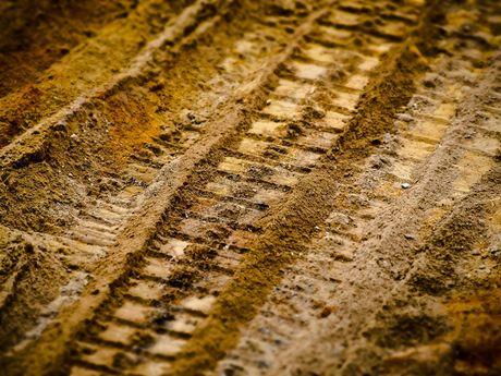 Sand einer Baustelle in Krummhörn - Greetsiel