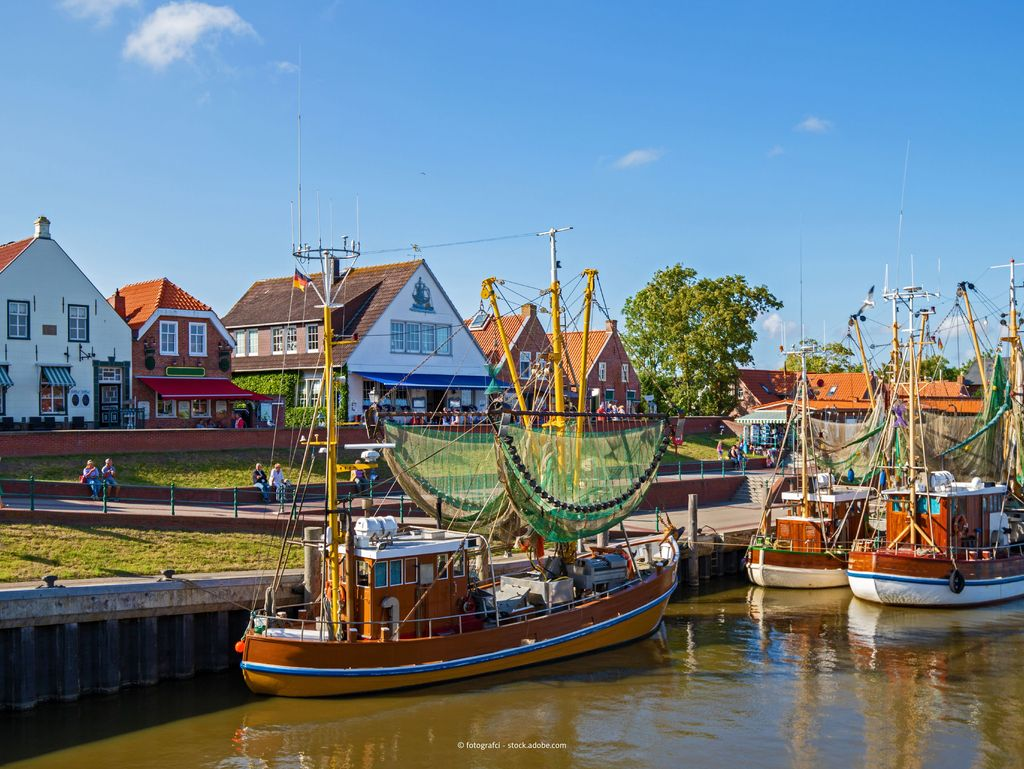 Greetsiel harbour with some cutters